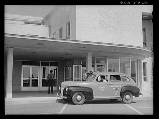 One of the fleet of airport taxicabs. Municipal airport, Washington, D.C.