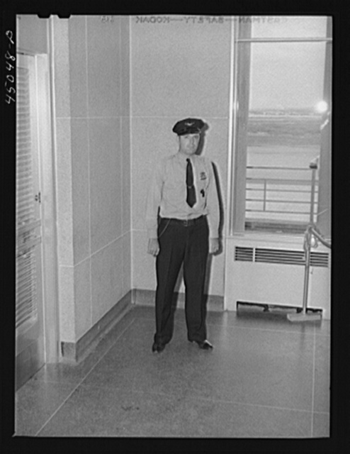 One of the guards. Municipal airport, Washington, D.C.