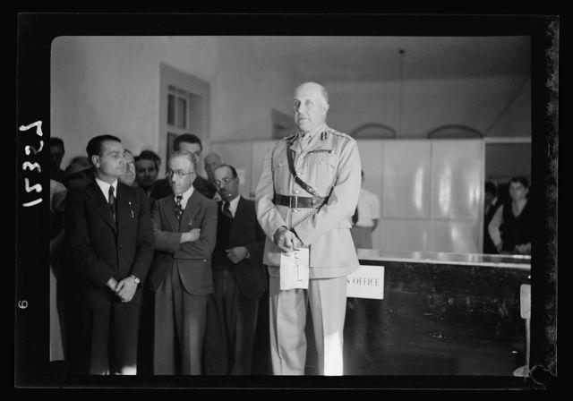 Opening of new Y.M.C.A. hostel by Gen. Wilson in old post office. Gen. Wilson declaring the hostel open
