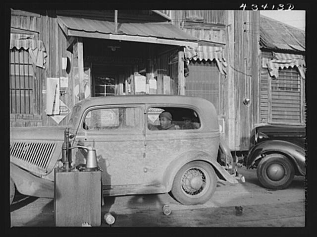 Outside a general store at Manchester, North Carolina. Near Fort Bragg, North Carolina