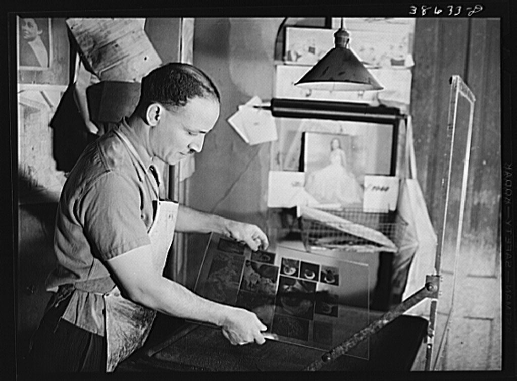Photoengraver of the Chicago Defender, a Negro newspaper. Chicago, Illinois