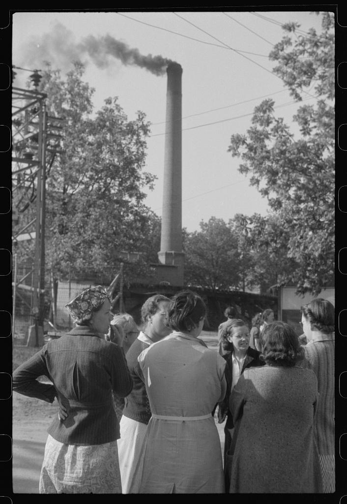 Pickets outside a textile mill in Greensboro, Greene County, Georgia