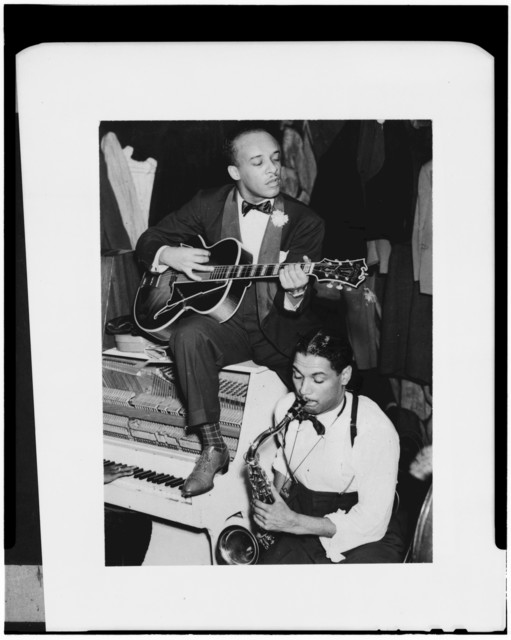 [Portrait of Floyd Smith and Dick Wilson, Howard Theater, Washington, D.C., not after 1941]