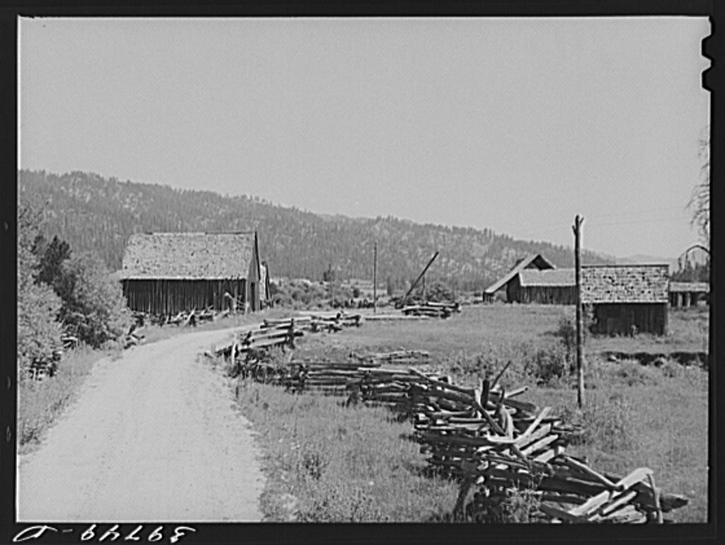 Rail fence. Garden Valley, Boise County, Idaho