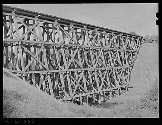 Railroad trestle. Ontonagon County, Michigan