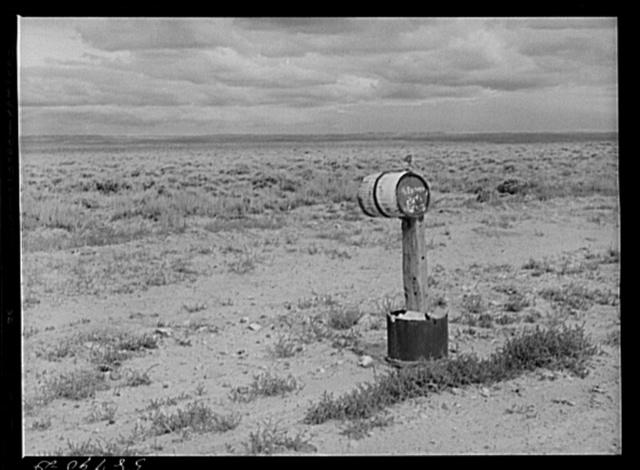 Ranch mailbox near Farson, Wyoming