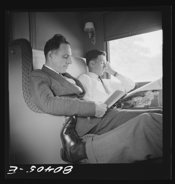Readers Digest, Colliers, Life, Look and Peek and then the timetable, help to pass the time aboard a Southern Railway pullman somewhere in Georgia