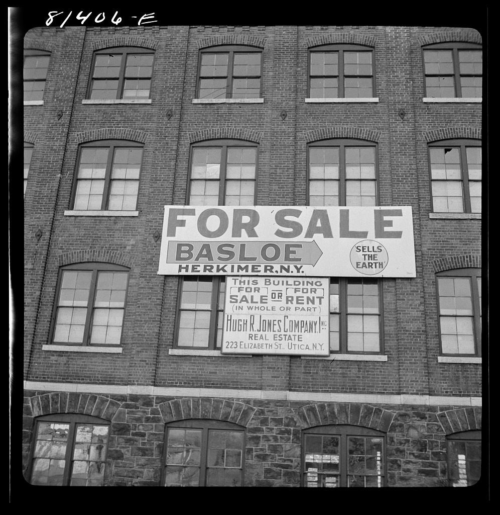 Real estate sign near Utica, New York