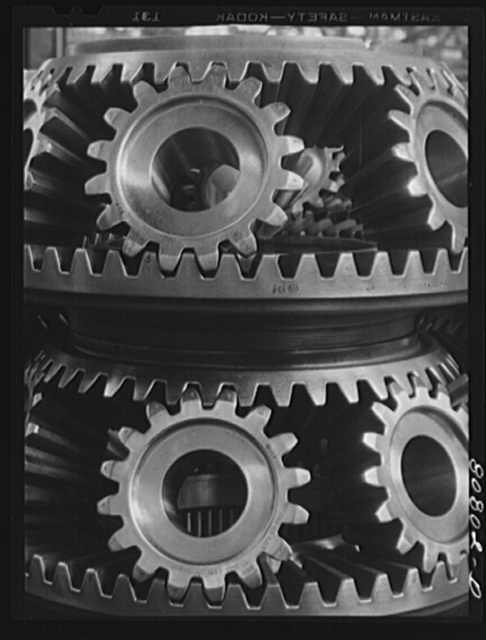 Reduction gears. Pratt and Whitney Aircraft Corporation. East Hartford, Connecticut