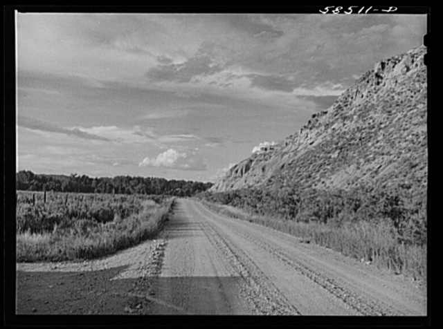 Road from Quarter Circle U Ranch to Birney, Montana