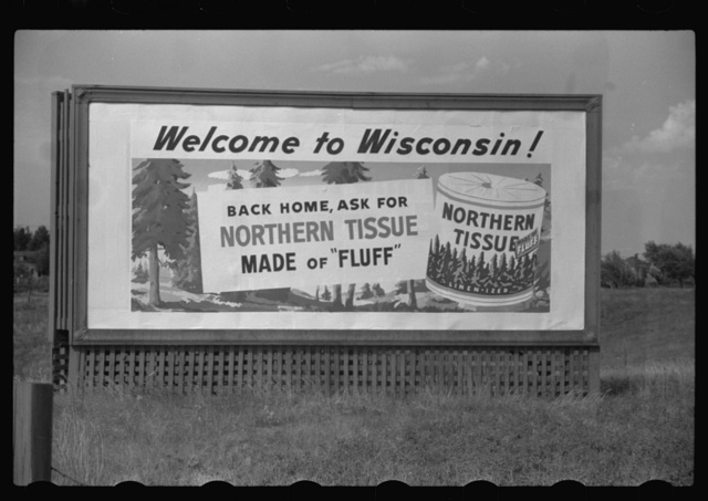 Roadsign in northern Wisconsin tourist section