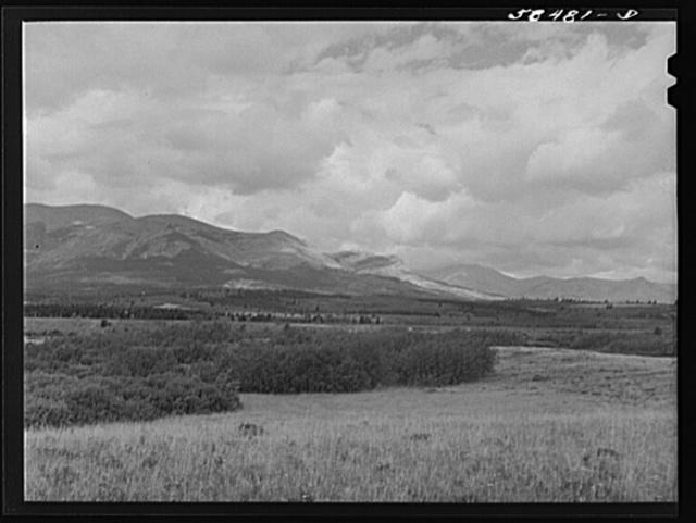 Rocky Mountains near Glacier Park station. Montana