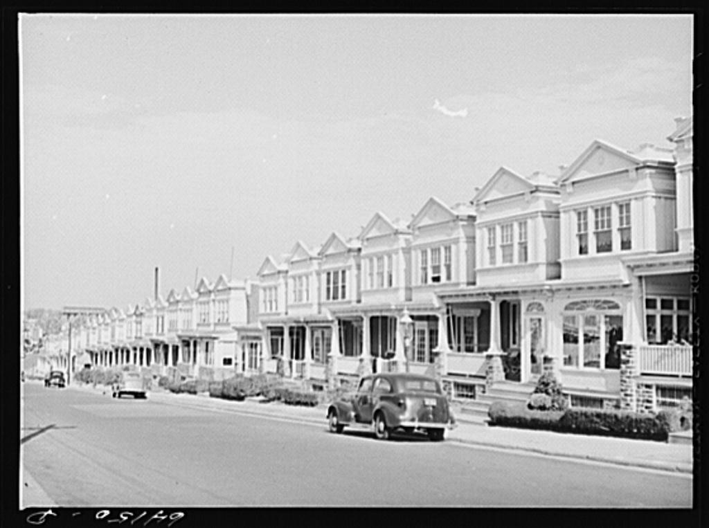 Row houses. Philadelphia, Pennsylvania
