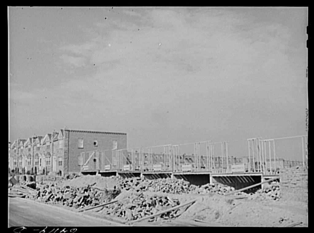 Row houses under construction. Philadelphia, Pennsylvania