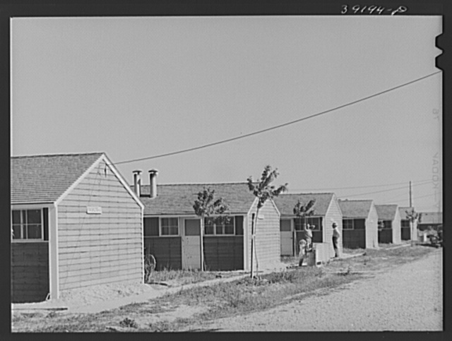 Row shelters at the FSA (Farm Security Administration) farm workers' camp. Caldwell, Idaho