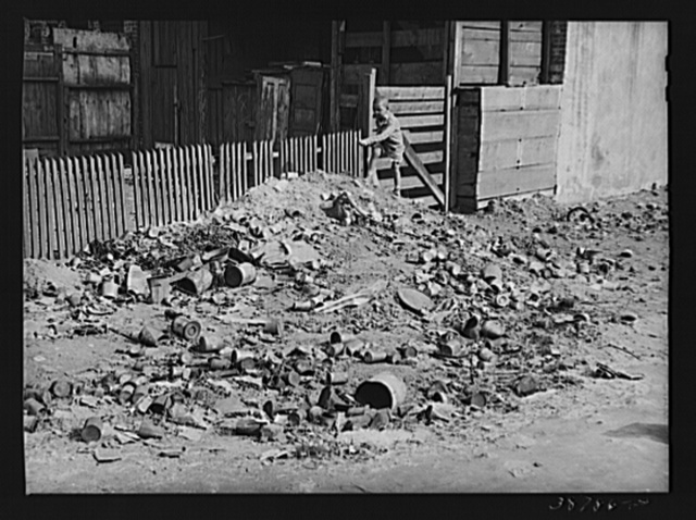 Rubbish piles are frequent in the Negro sections of Chicago, Illinois