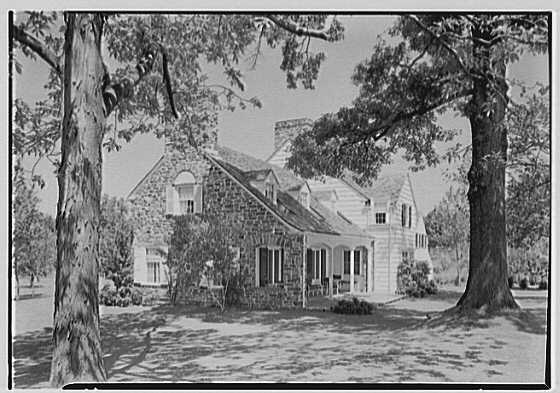 S. Spencer Scott, residence at 5 Quaker Center, Scarsdale, New York. Rear view of porch