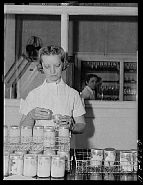 Samples of butter in laboratory of Land O'Lakes plant. Minneapolis, Minnesota
