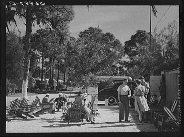 Sarasota trailer park. Sarasota, Florida