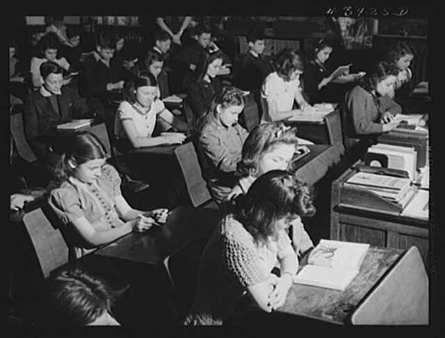 Schools in Fayetteville, North Carolina were crowded as a result of the influx of population caused by the enlarging of Fort Bragg. North Carolina