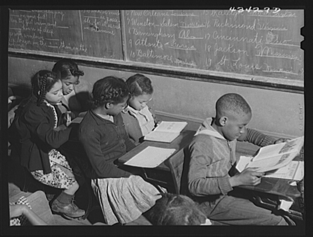Schools in Fayetteville were crowded as a result of the enlarging of Fort Bragg, North Carolina