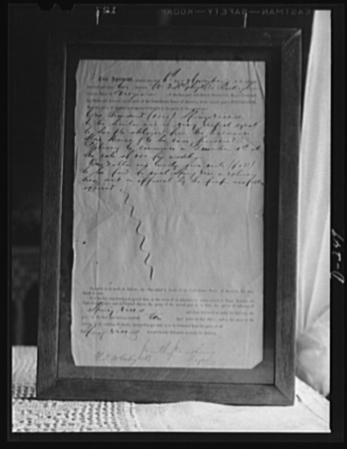 Shenandoah Valley. Contract for spring vices let to W.T. McGahey by the Confederate commander of the Richmond arsenal in 1862
