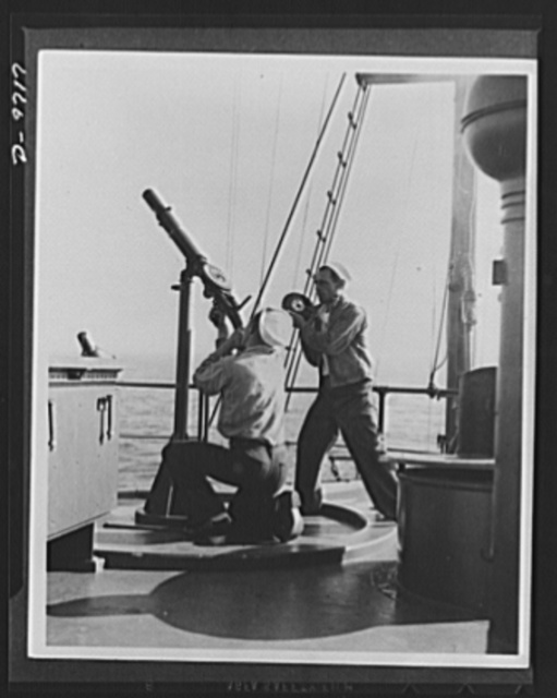 Shopping for victory with war bonds. There goes a 100 dollar war bond. A 100 dollar bond buys 2,000 rounds of steel-jacketed 30-caliber shells for this Naval gun. Two thousand rounds can be rattled off in a few seconds--and two thousand rounds can bring down plenty of Jap airplanes