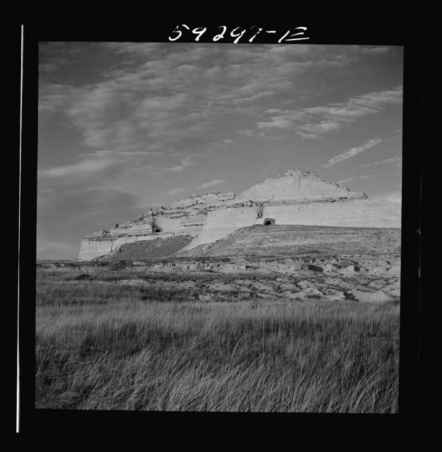 Site of Old Oregon Trail. Scottsbluff in the background. North Platte River Valley, Nebraska