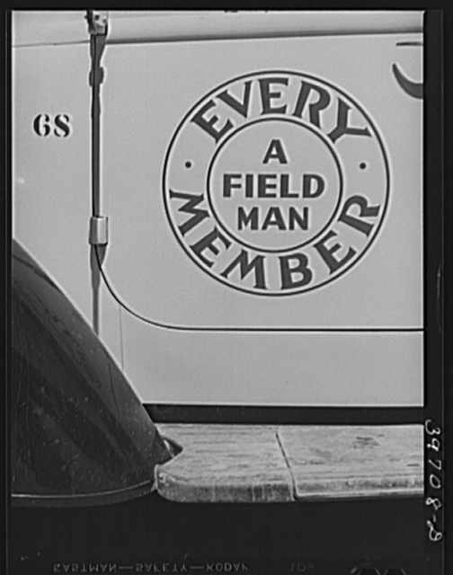Slogan on truck of the Dairymen's Cooperative Creamery. Caldwell, Canyon County, Idaho