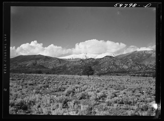 Snow-capped mountain near Buena Vista, Colorado