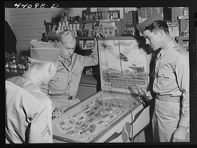 Soldiers from Fort Benning in a country store near Phenix City, Alabama