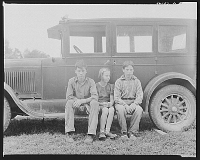 The children of Mr. Ray Lyman, FSA (Farm Security Administration) dairy farmer near Castleton, Vermont