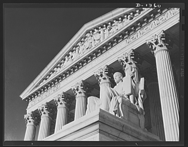 The four freedoms. Equal justice under the law is just one of the planks on which democracy is built, equal justice for all, regardless of race, color and creed. The picture is of the entrance to the Supreme Court Building in Washington, D.C.