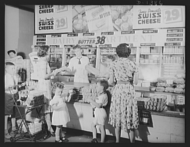 The four freedoms. The economy of abundance is still a part of the American way of life. No ration cards limit the purchase of healthful dairy products for Americans and their children