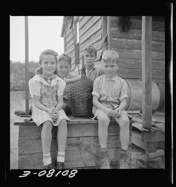 The four Hardesty children learned a lot about pumps. John Hardesty well project, Charles County, Maryland