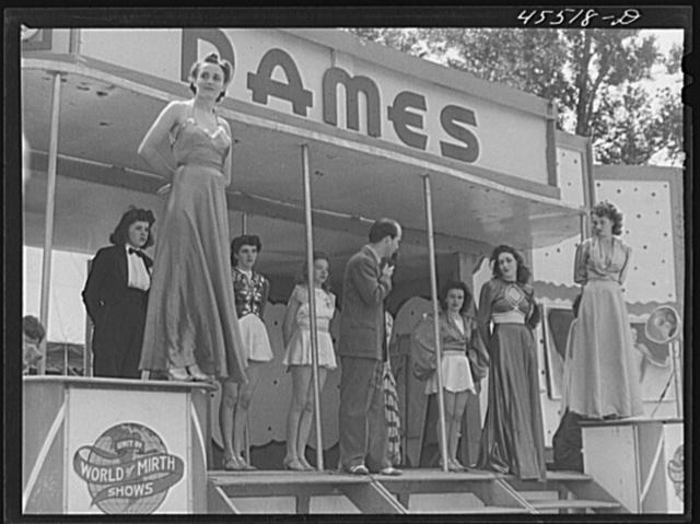 "The ""girlie"" show at the Rutland Fair, Vermont"