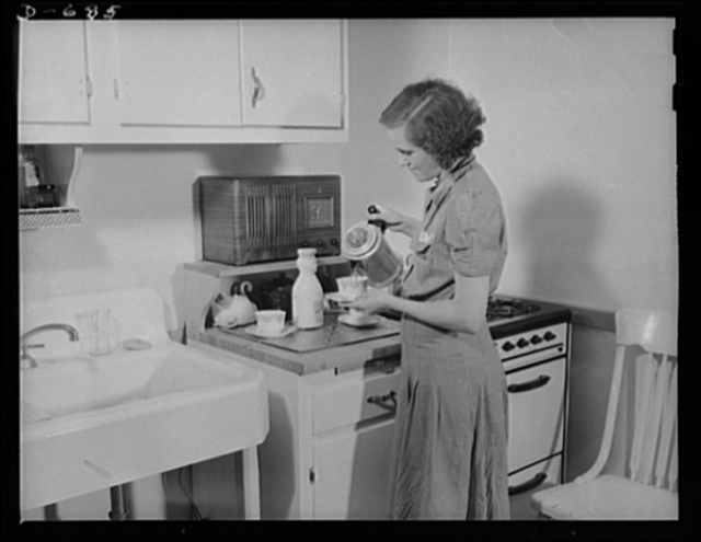 The Herbster family gets well-balanced meals. Mrs. Herbster plans to give the children milk; leafy, green or yellow vegetables; raw fruits or vegetables rich in Vitamin C; cereals and bread, lean meat, poultry, fish and other vital foods which build and repair the body, give energy for work and play