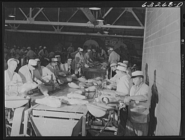 The hog cut. Packing plant, Austin, Minnesota