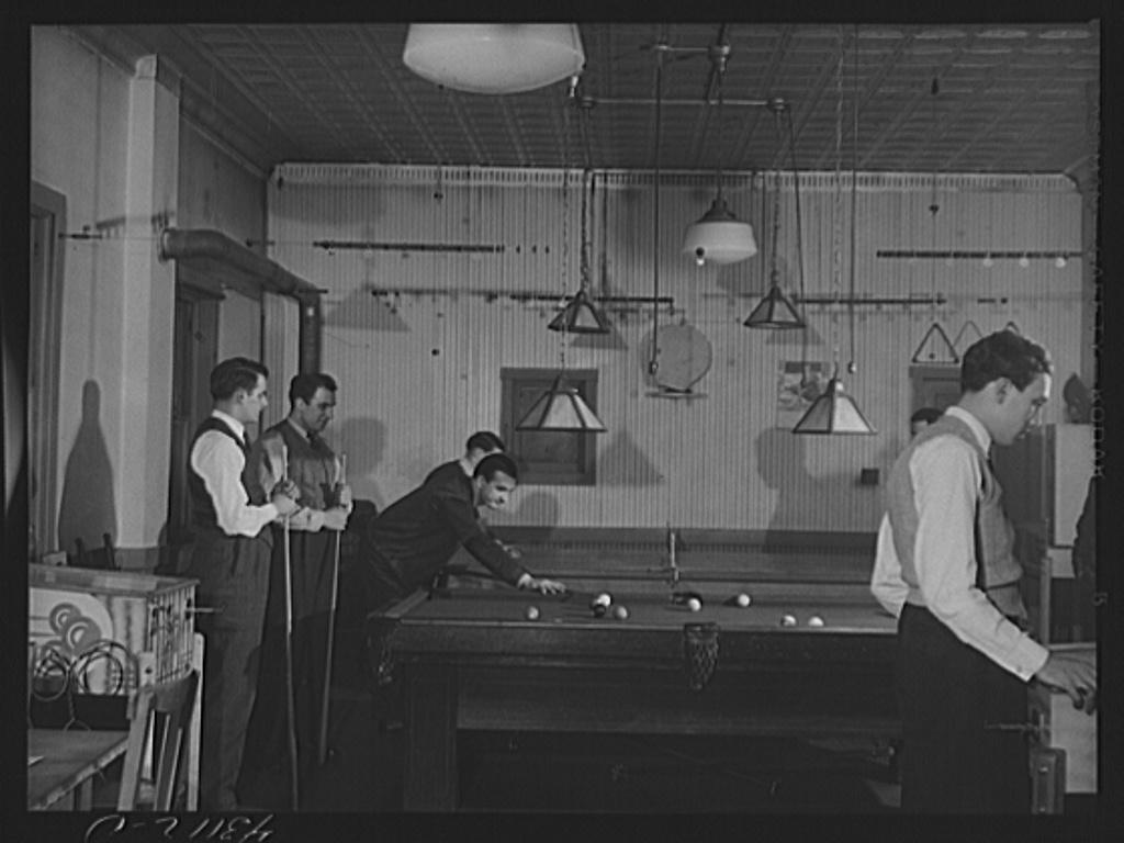 The recreation room of the Serbian Club in Aliquippa, Pennsylvania