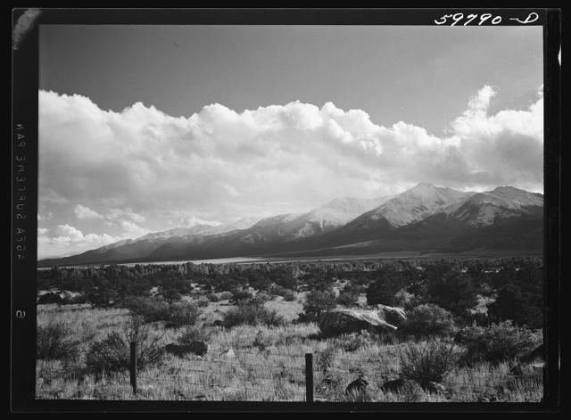 The Sawatch mountains near Buena Vista, Colorado
