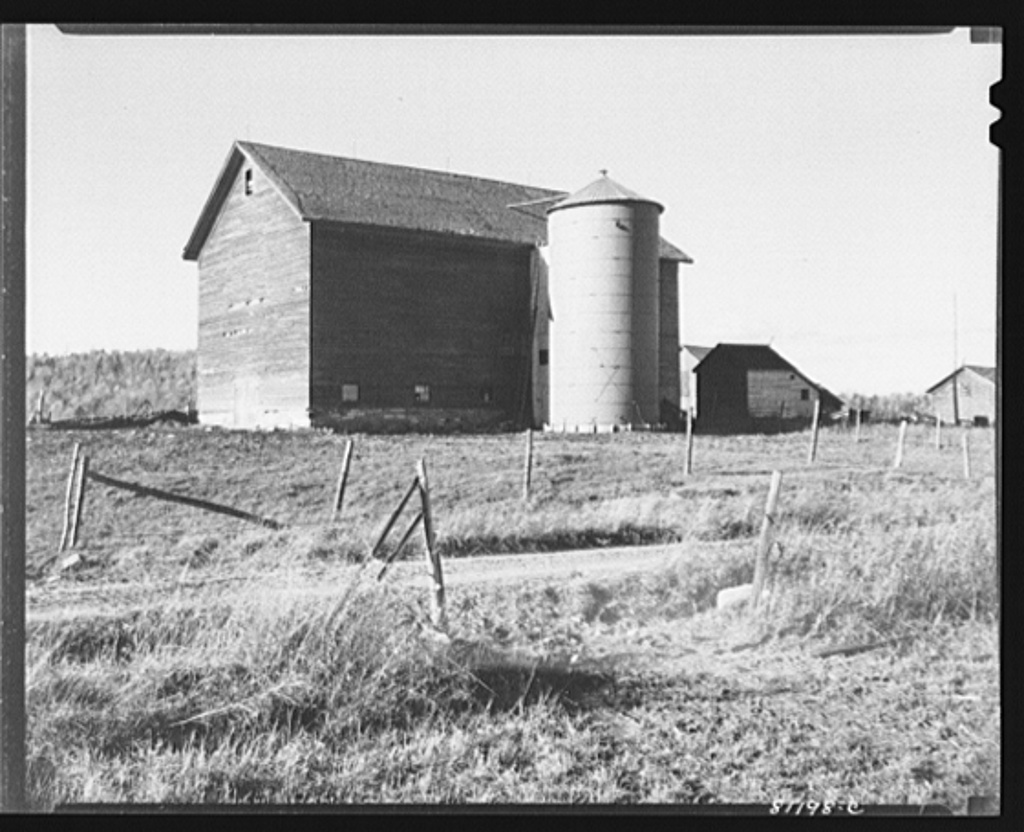 The silo on the Daxtater barn has just been finished and cost three hundred fifty dollars. Little Falls, New York