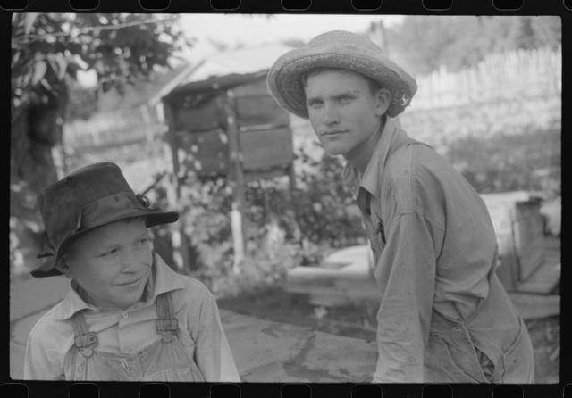The sons of Mr. E.A. Marcus, FSA (Farm Security Administration) borrower, near Woodville, Green County, Georgia