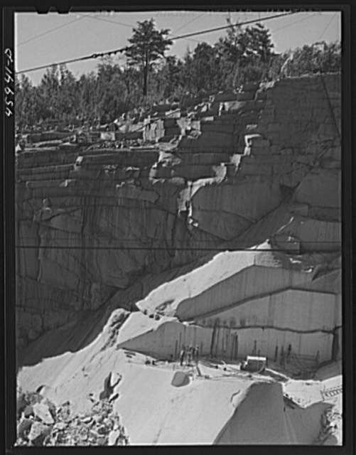 At the Whitmore and Morse granite quarry in East Barre