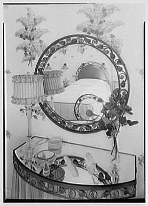 Theodore D. Buhl, residence on Island Rd., Palm Beach, Florida. Upper guest room dressing table