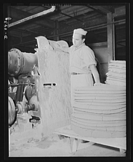 This is the charging end of the pug mill. Shenango Pottery Works, Newcastle, Pennsylvania