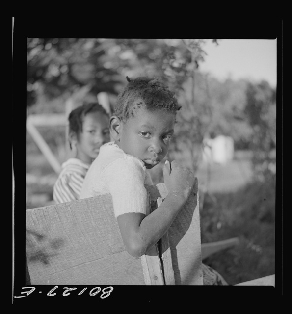 This little Negro girl was suspicious of the whole proceedings. Saint Mary's County, Maryland. Ridge well project