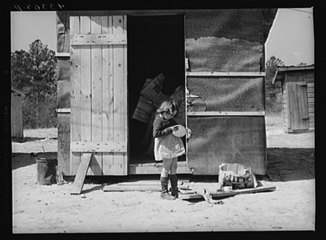 This shack for workers at Fort Bragg rented for five dollars a week. Near Fort Bragg, North Carolina