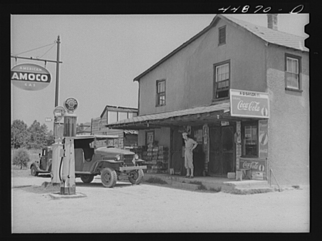 This small store, owned by two Negroes for about forty years, is getting a last rush of business from the soldiers before they will have to move out to make room for the Army maneuver grounds. Caroline County, Virgninia