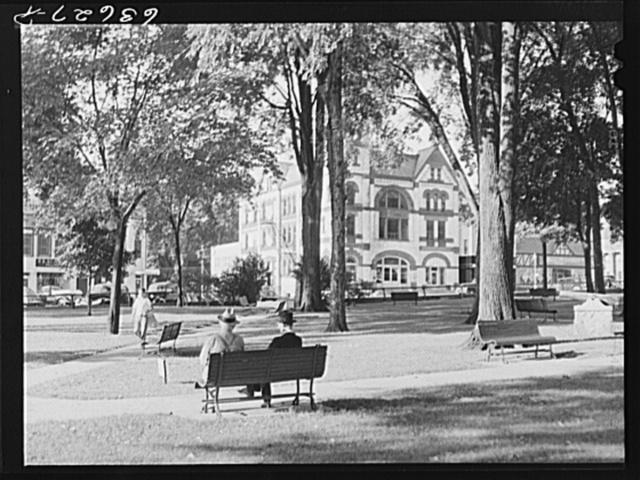 Town square. Woodstock, Illinois