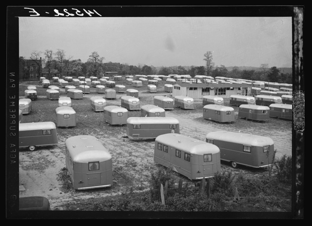 Trailer camp for defense workers of the Vultee Aircraft Plant. Nashville, Tennessee
